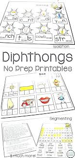 Vowel Diphthongs Ow Oi Phonics Worksheets For Grade Printable Oy ...