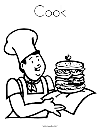 Small Picture Cook Coloring Page Twisty Noodle