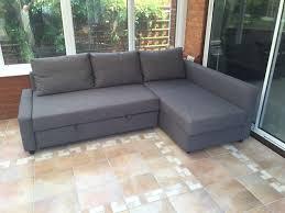 corner sofa bed with storage ikea friheten new condition