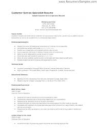 Examples Of Customer Service Skills For Resume Ability Summary