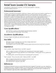 Team Leader Resume Examples Leadership Resume Samples Examples Cover Letter Skill Template For