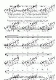 French Horn Fingering Chart For Solo Instrument Horn In F By Jerry Lanning Sheet Music Pdf File To Download