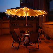 Globe Umbrella Lights Vintage Bulb String Lights Evening Images Patio Lighting