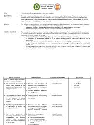 teaching plan nursing leadership