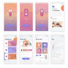 App Faq Design Modern Feminine Baby Care App Design For Ipassion Aps By