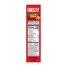 photo of cheez it baked snack cheese ers reduced fat original 6
