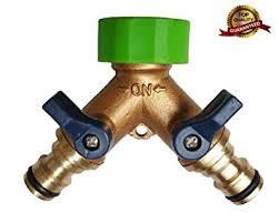 garden hose splitter. [BRASS BODY] PURETIME 2-ways Garden Hose To Connector, Heavy Duty Splitter