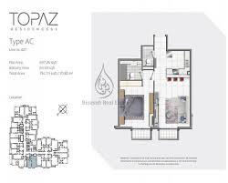 ... Topaz Premium Residences 1 Bedroom Apartment Type AC Floor ...
