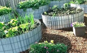 corrugated metal raised garden beds corrugated metal garden beds round raised garden beds round metal raised