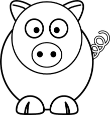 Small Picture Cute Pig Coloring Page for Kids Free Printable Picture