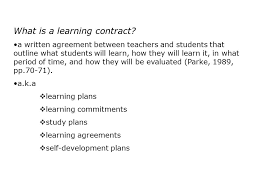 Student Agreement Contract Student Learning Agreement Gallery - agreement letter sample format