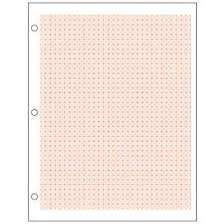 3 Dimensional Graph Paper 500 Sheets Red Lined 25 Squares