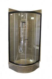 34 round shower door with clear glass