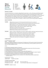 New Nurse Resume Template New Nursing Resume Templates Australia Kubreeuforicco