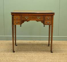unusual inlaid rosewood antique victorian writing desk table