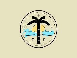 restaurants logo with a palm tree. Plain Tree Circular Palm Tree Logo Intended Restaurants Logo With A Palm Tree
