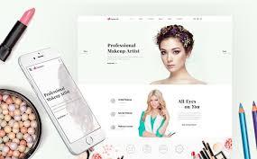 15 make up artists wordpress themes templates artist makeup