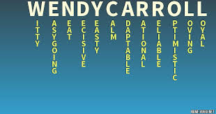 The meaning of wendy carroll - Name meanings