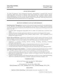 Retail Manager Cover Letter Resume Cv Cover Letter