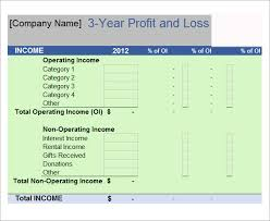 Free Profit And Loss Template Excel 20 Sample Profit And Loss Templates Doc Pdf