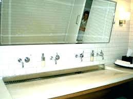 trough sink two faucets trough sink two faucets trough sink bathroom s s trough bathroom sink with trough sink two faucets