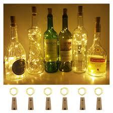 Amazon Cork Bottle Lights Aluan Wine Bottle Lights With Cork 12 Led Cork Bottle Lights Battery Included Wine Cork Lights For Diy Party Wedding Christmas Bar Bottle Jar Lamp