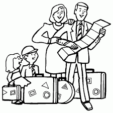 Small Picture Family traveling on vacation Free Printable Coloring Pages