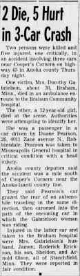 Duane Pearson car accident. In Star Tribune Friday June 25th, 1954. -  Newspapers.com