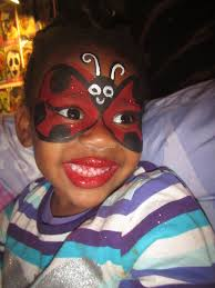 lady bug face paint kid the image kid has it
