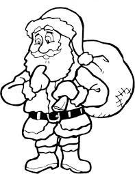 Small Picture Simple Christmas Coloring Pages Santa And Reindeer Santa Coloring