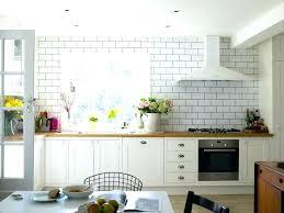 backsplash around window kitchen around window around window kitchen farmhouse with brick tiling stainless steel wall backsplash around window