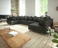 Couch Clovis Xl Schwarz Strukturstoff Wohnlandschaft
