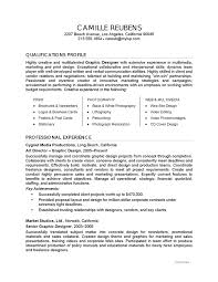 graphic design sample resume gifresume example   graphic design   careerperfect com