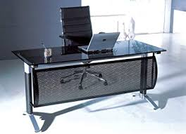 glass top office desk. Contemporary Glass Neos Modern Furniture Creative Images International Glass Collection  Top Office Desk With Metal Frame And F