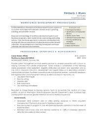 workforce development resume vocational counselor resume