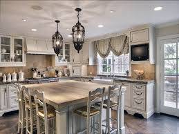 Kitchen Chandelier Lighting Kitchen Island Crystal Chandelier Over Red Kitchen Island Of