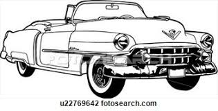 Retro Car Clipart Black And White Clipartfest