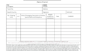 Short Form Bill Of Lading Template Sample Bill Of Lading Form Top Printable Sample Bill Lading