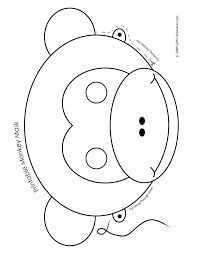 Here presented 49+ animal mask drawing images for free to download, print or share. Pin By Annette Bland On Monkey Lesson Printable Animal Masks Monkey Crafts Animal Masks