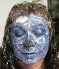 spider web in the moonlight halloween make up tutorial