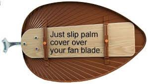 ceiling fan blade covers. easy slipover palm decorative ceiling fan covers blade a