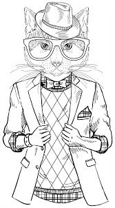 Small Picture Best Coloring Books For Cat Lovers Throughout Hipster Pages