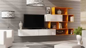 White Gloss Furniture For Living Room New Original Wall Unit Vigo Xvi Cama Euro Interiors Ltd