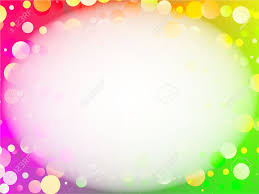 Rainbow Page Border Abstract Rainbow Circles Background Page Border Design Stock Photo