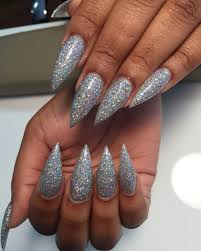 Pointy Nails Designs With Diamonds Hologram Diamond By Perfect Match Stiletto Holo
