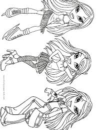 Small Picture Bratz color page cartoon characters coloring pages color plate