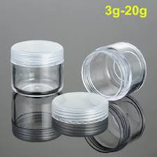 small plastic bottles with lids dubious 160pcs assorted size round transpa sample cream bottle jars home