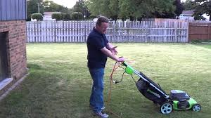 corded electric lawn mower. how to use an electric lawn mower - corded youtube w