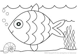 Sea Creature Coloring Pages Free Of Animals Ocean For Preschool