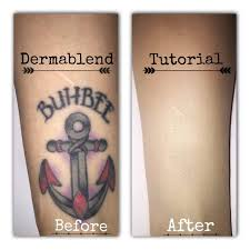 dermablend tattoo cover up tutorial you